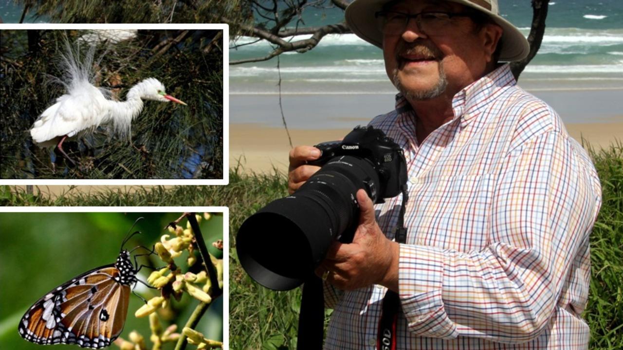 Grayham Bickley was in his element taking wildlife snaps.