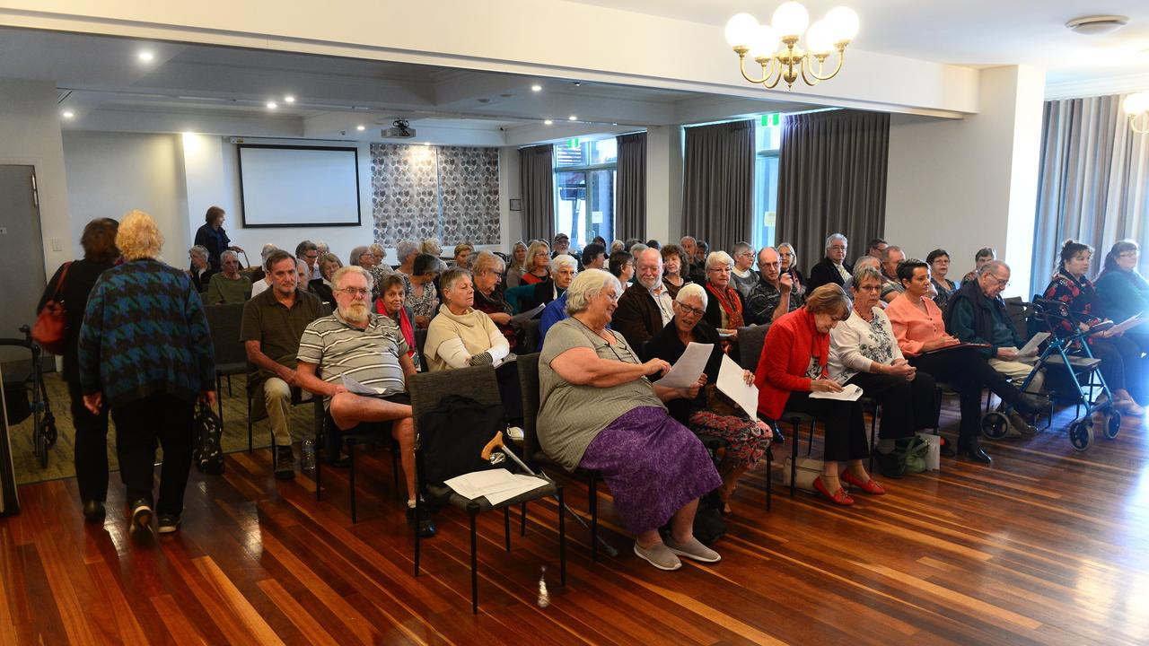 Attendance at the aged care, end of life and palliative care and voluntary assisted dying hearing held in Bundaberg in July last year. More chairs needed to be brought into the conference room as attendance was higher than expected. Picture: Mike Knott.