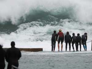 Facing down monsters: Mammoth swell hits city's beaches