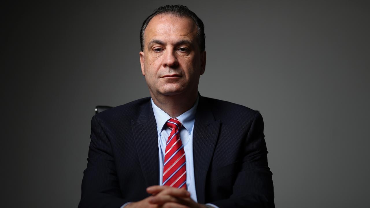 Peter V'Landys pictured in his Sydney office boardroom.