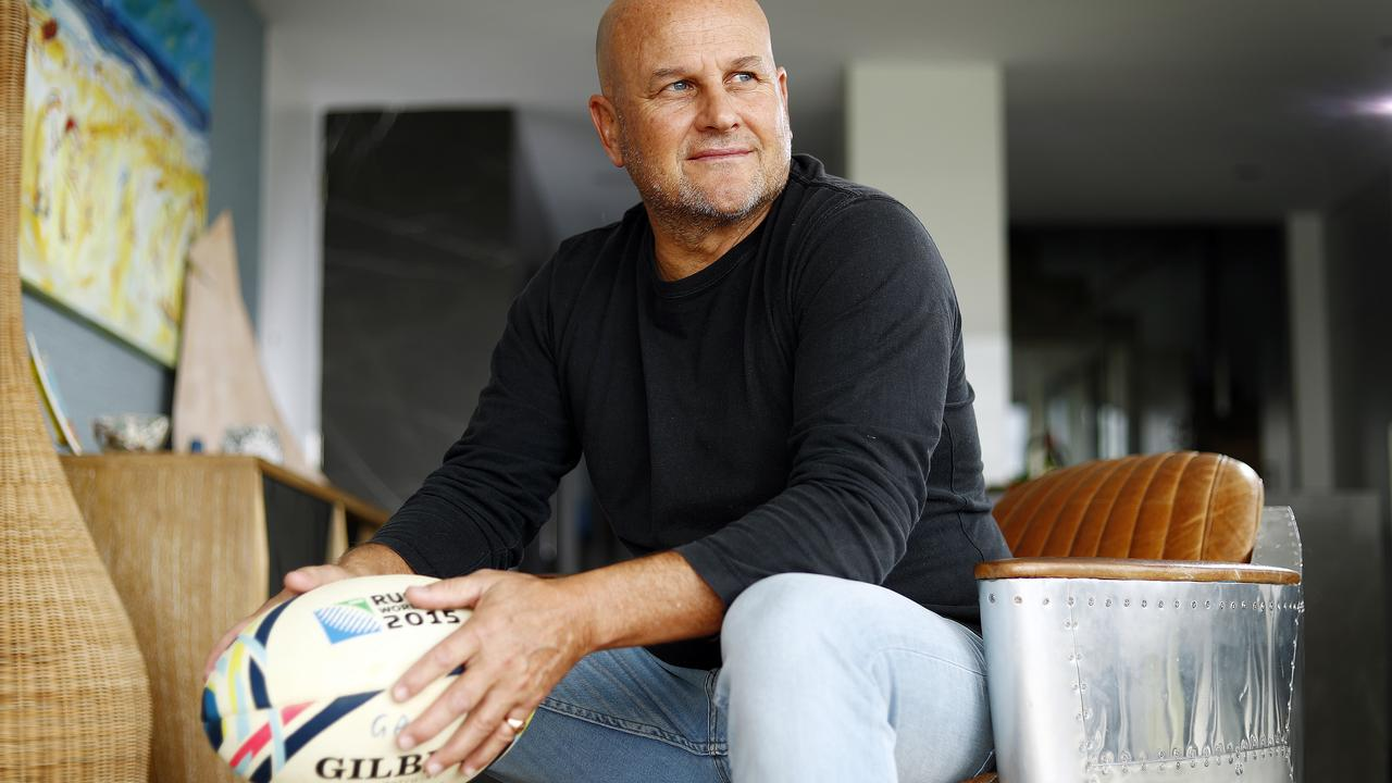 New Rugby Australia boss Rob Clarke pictured at his Manly home. Picture: Sam Ruttyn