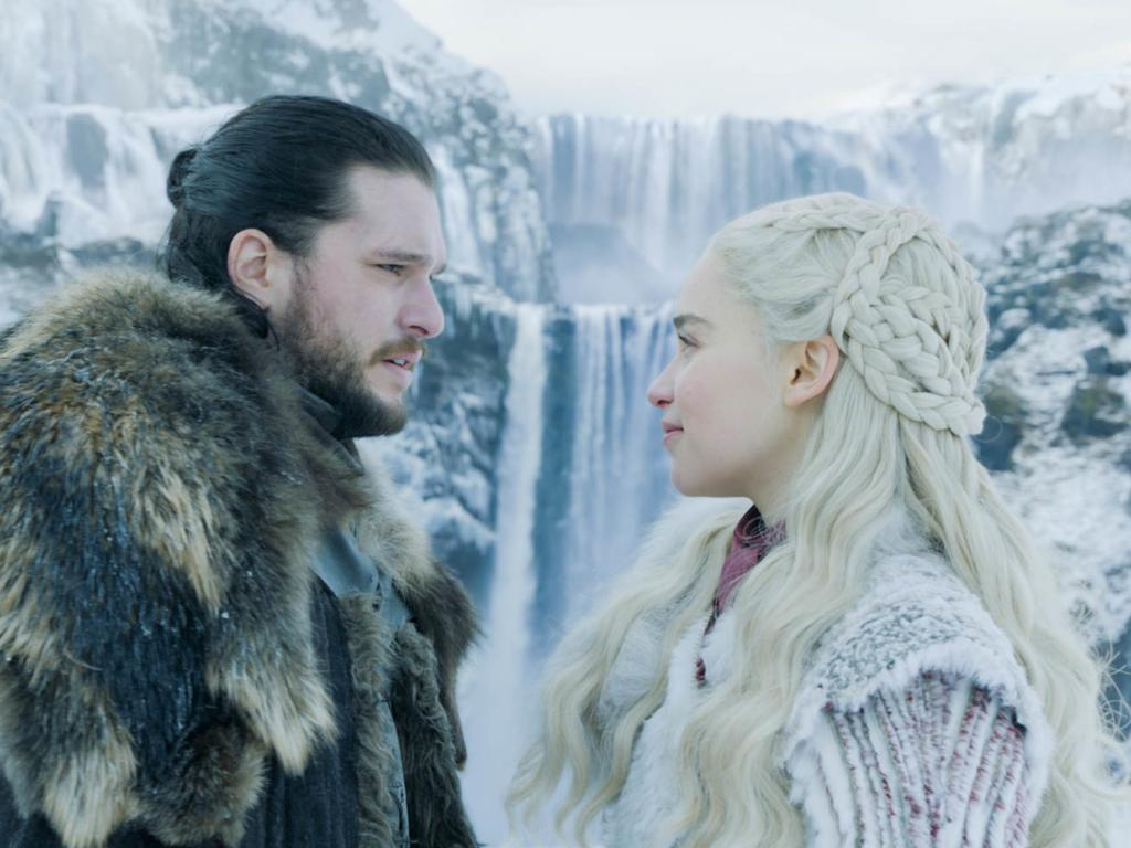 Kit Harington as Jon Snow and Emilia Clarke as Daenerys Targaryen in Game of Thrones. Picture: Courtesy of HBO
