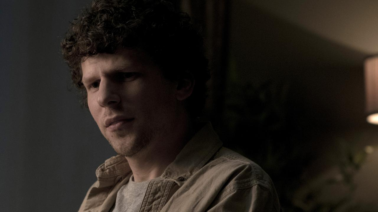Jesse Eisenberg in a scene from the movie Vivarium.