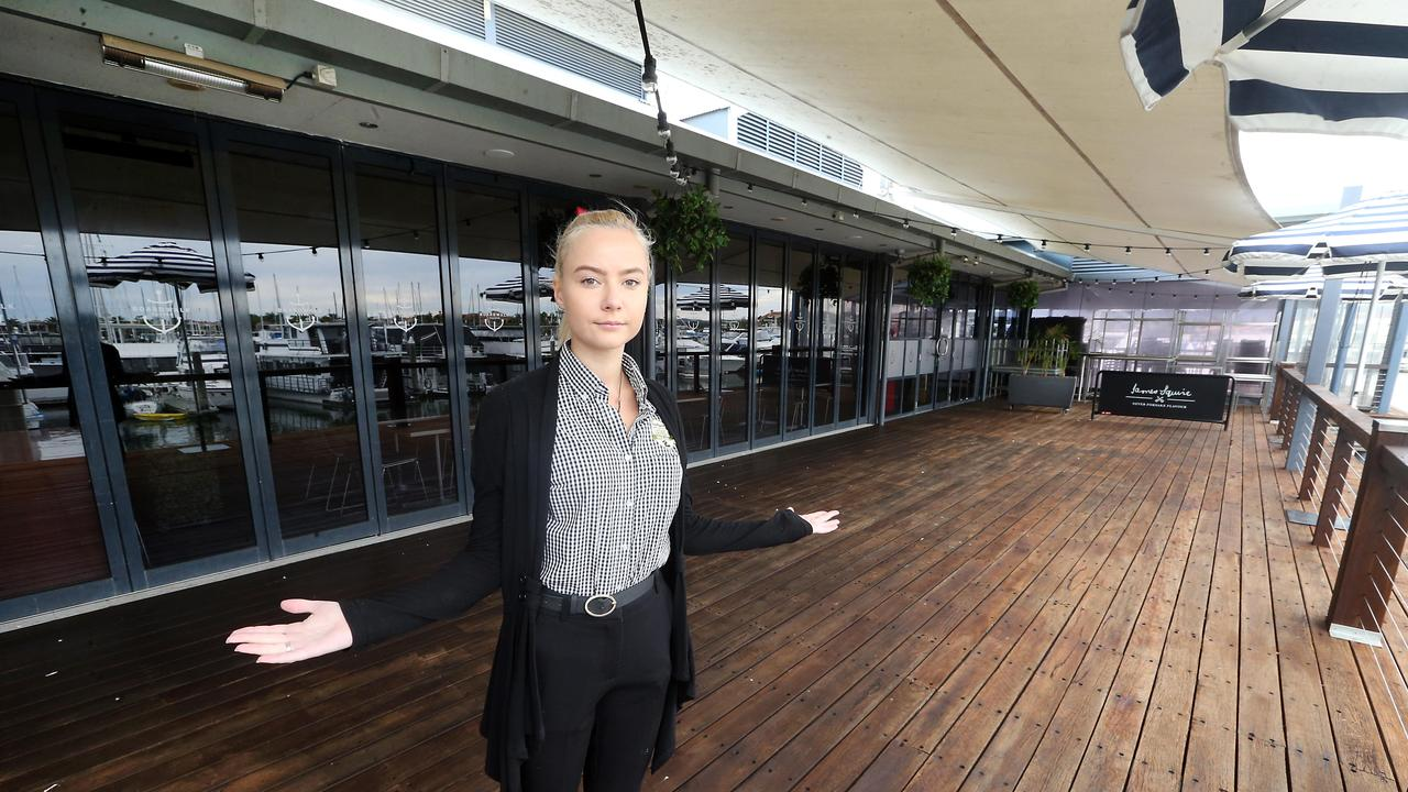 Boardwalk Tavern at Hope Island staffer Olivia Richardson. Picture: AAP Image/Richard Gosling