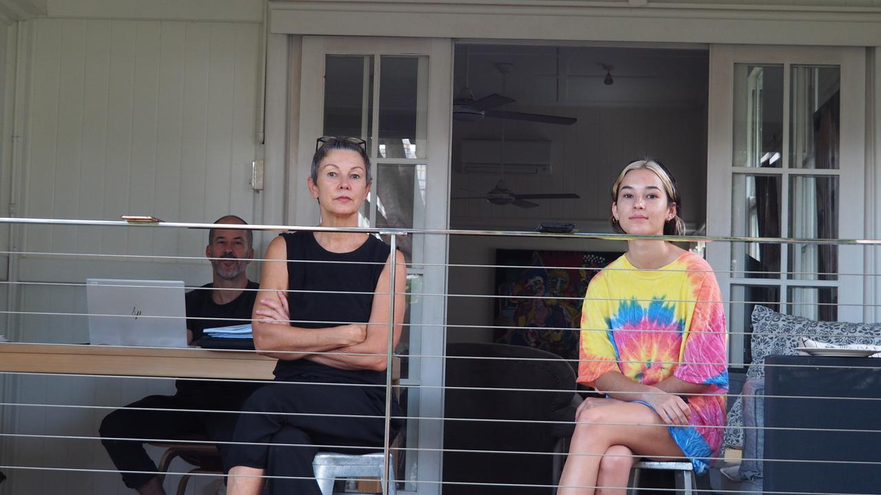 Patrick Condren's pics of the Bidwell family in home quarantine