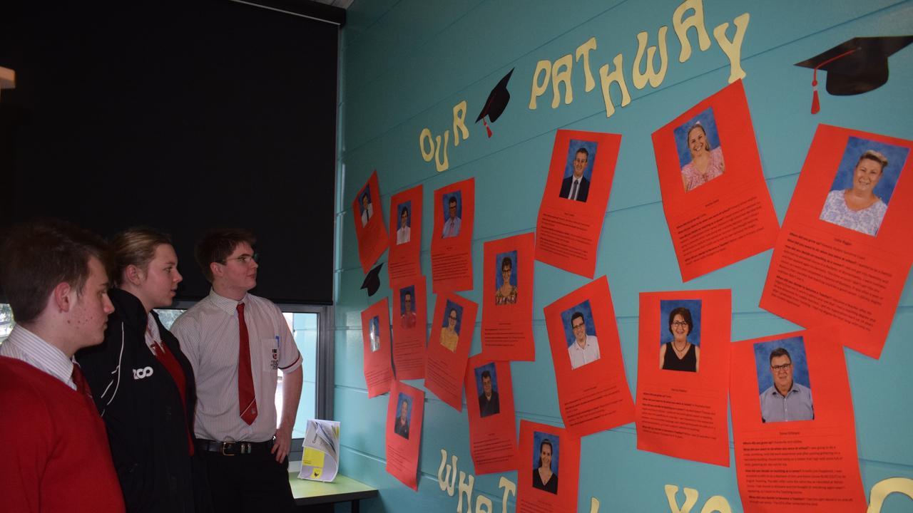 CAREERS WEEK: Beau Radke, Bronte Kruger and Connor Merton took the time to read their teachers pathways.