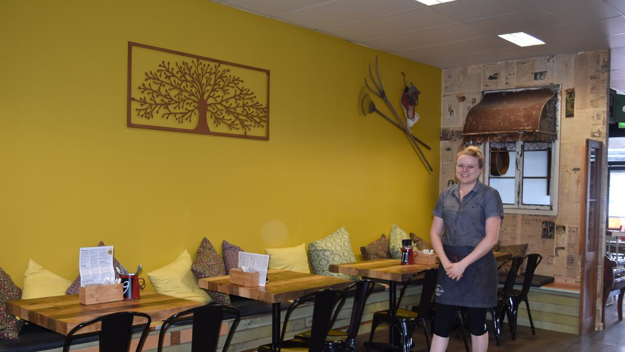 Sharla Watson in the new, renovated Farmer and Sun Cafe.