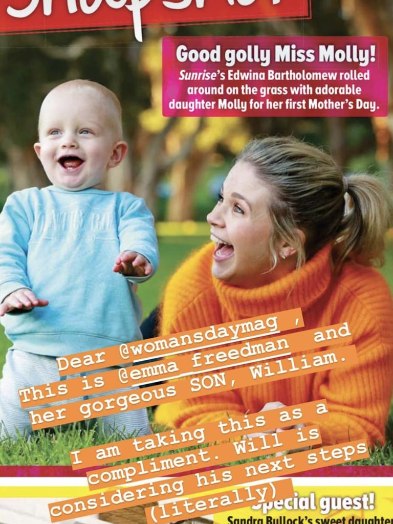 Emma Freedman and her toddler son Will.