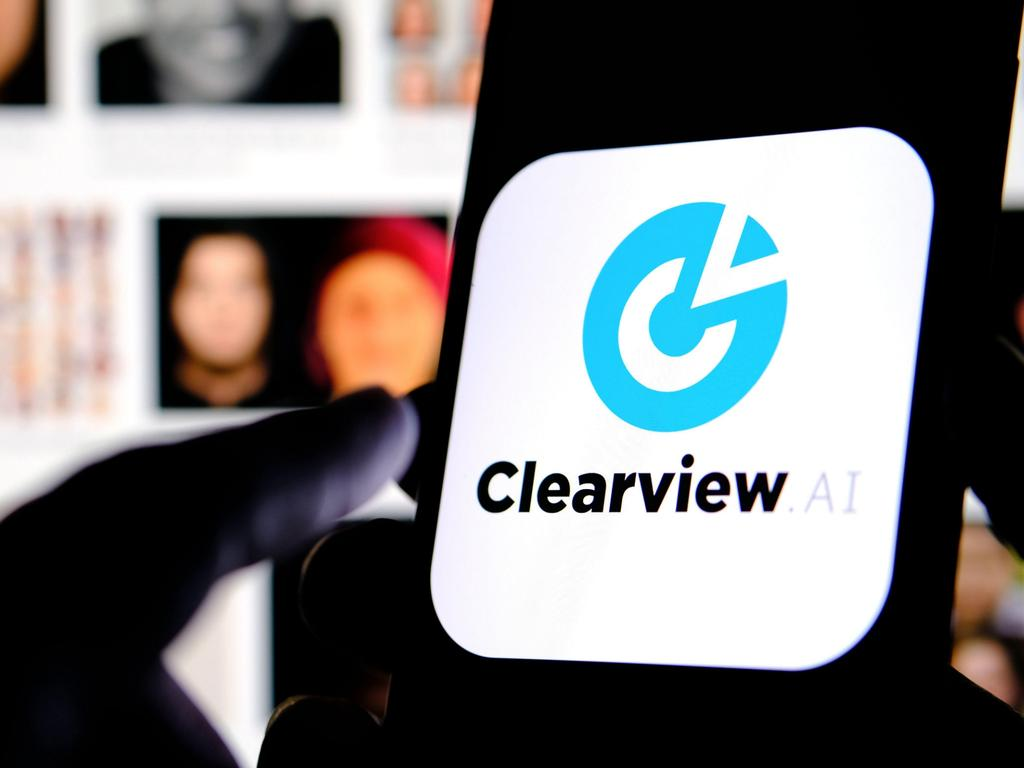 The Clearview AI company logo. Picture: Alamy