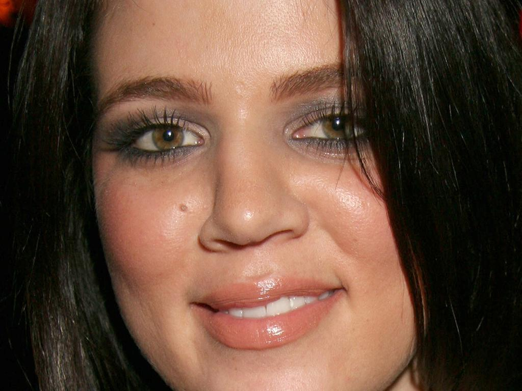 A very different looking, younger, Khloe Kardashian. Picture: FilmMagic)