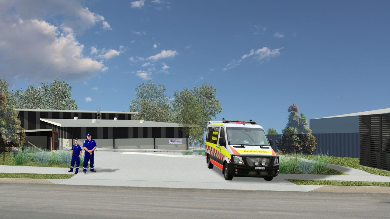 An artist's impression of the new Sawtell Ambulance Station.