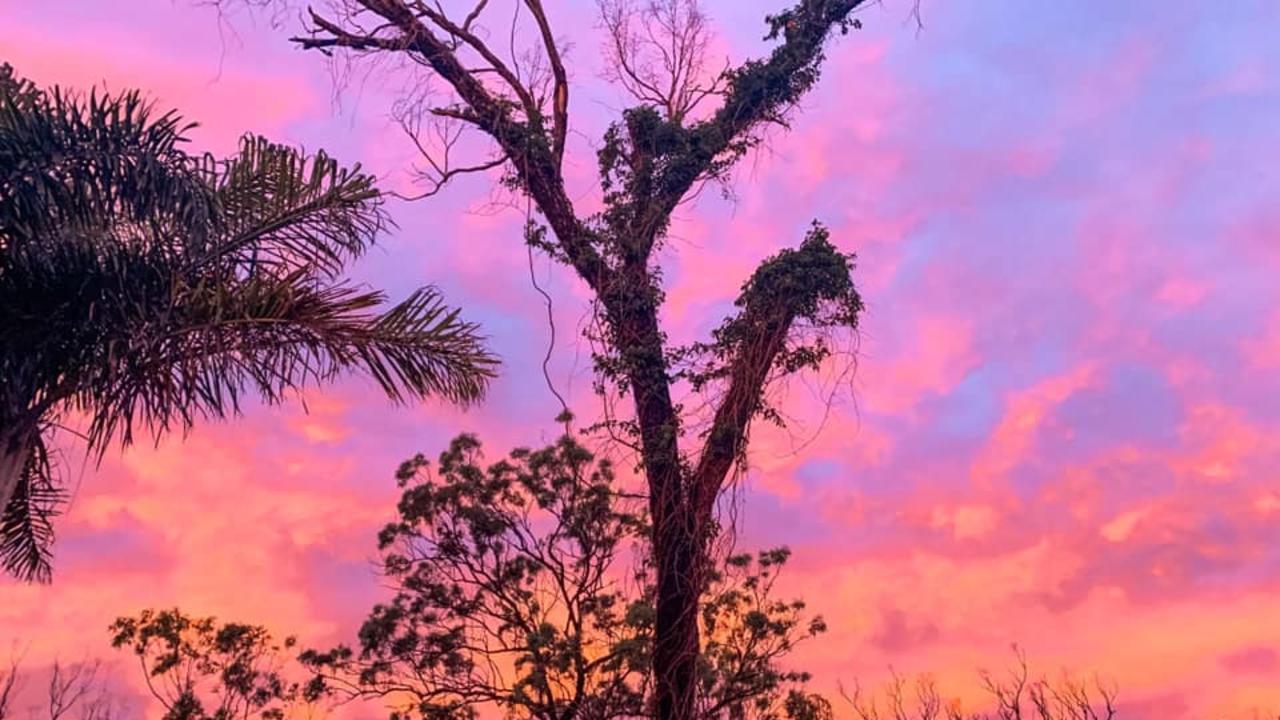 SKY ON FIRE: The sun sets over Rocky