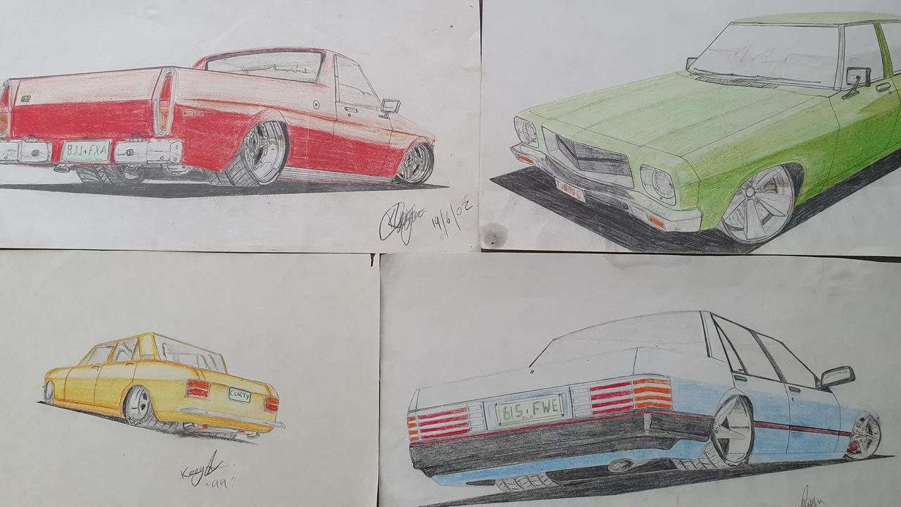 Keegan loved his cars and was a budding artist.
