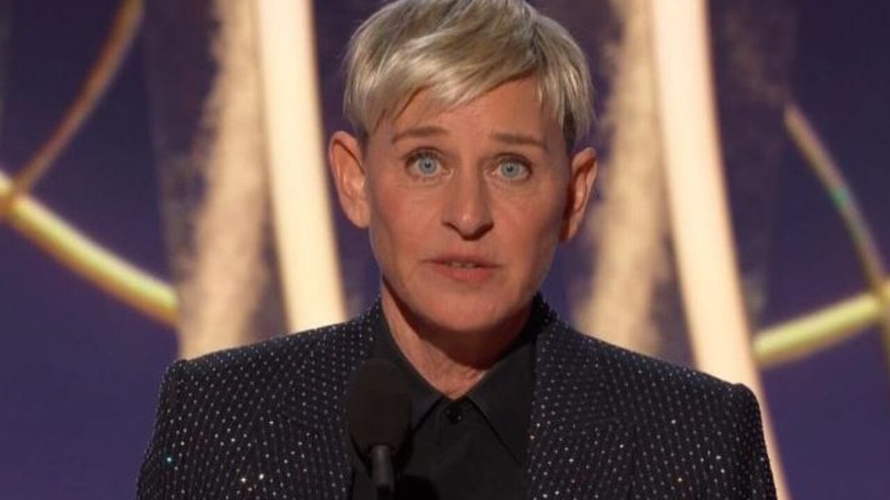 Ellen DeGeneres' 2020 Golden Globes speech seems like so long ago. Picture: Foxtel.