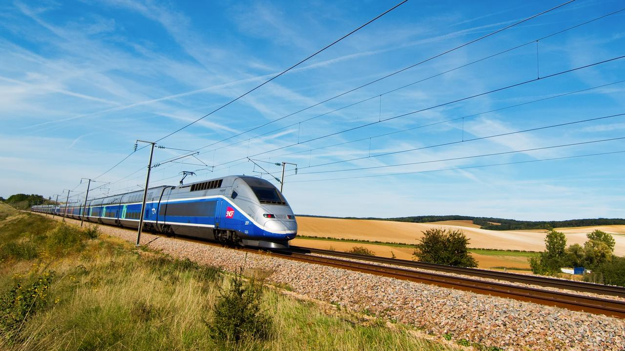 A bullet train in France