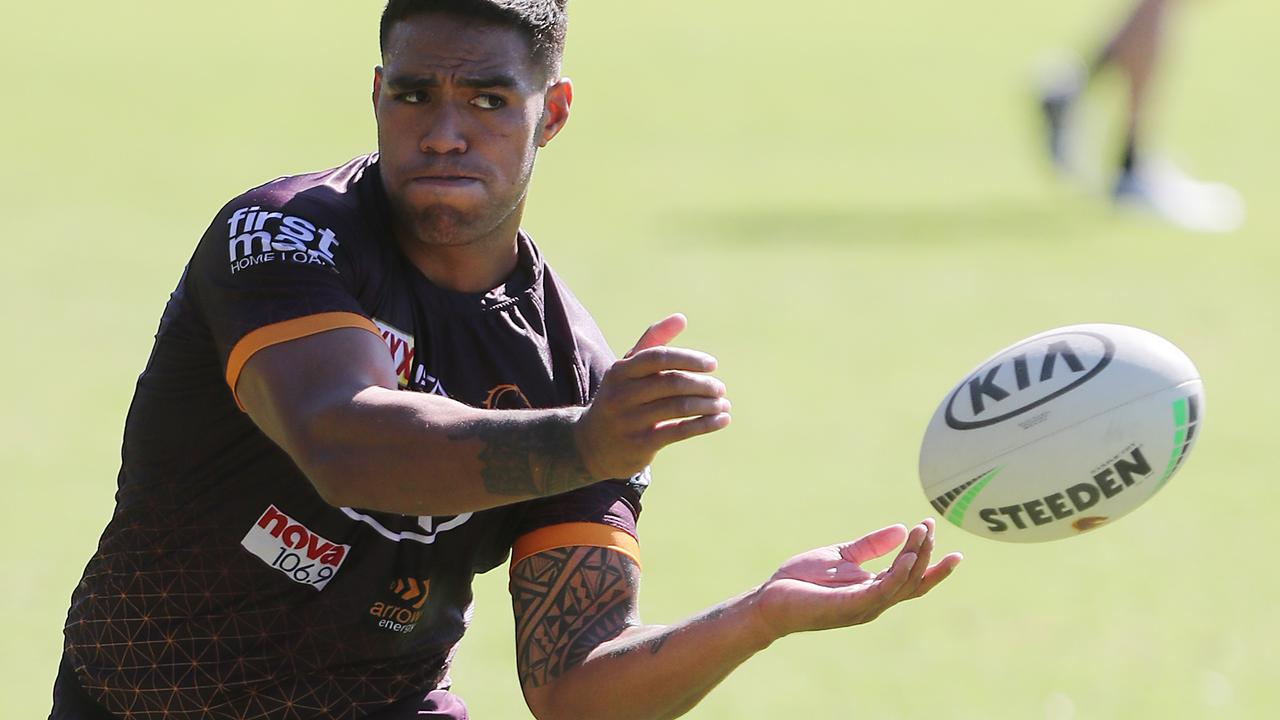 Broncos bosses have challenged Joe Ofahengaue to step up as a leader. Picture: Peter Wallis