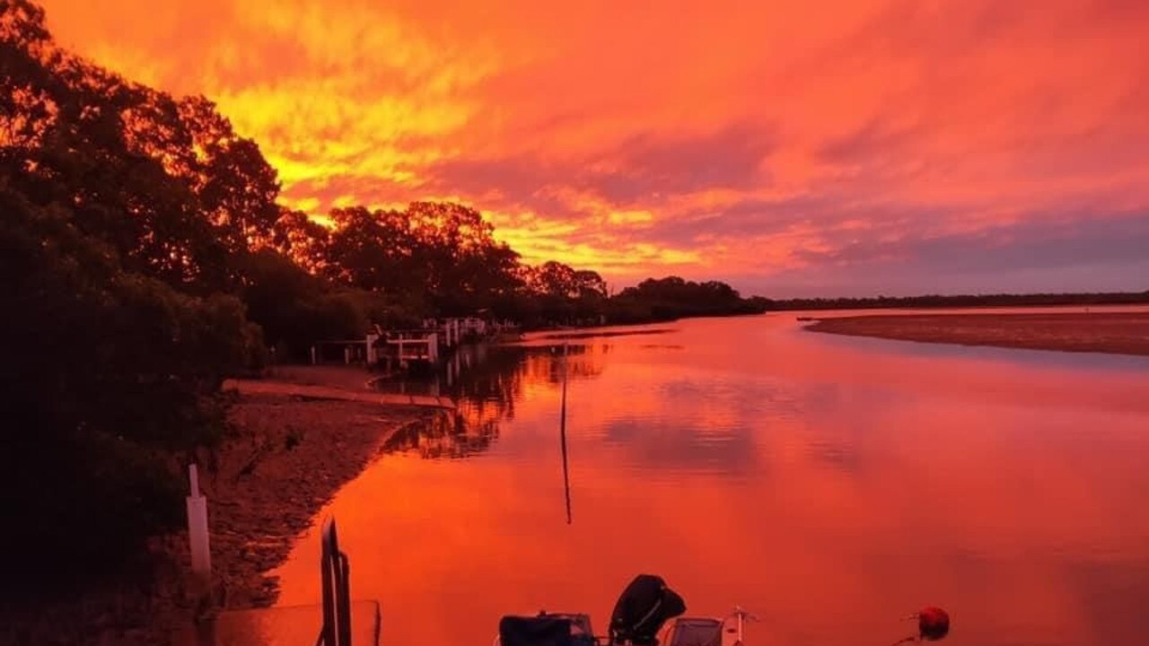 A stunning sunset followed a cold day on the Fraser Coast. Credit: Ron Morgan