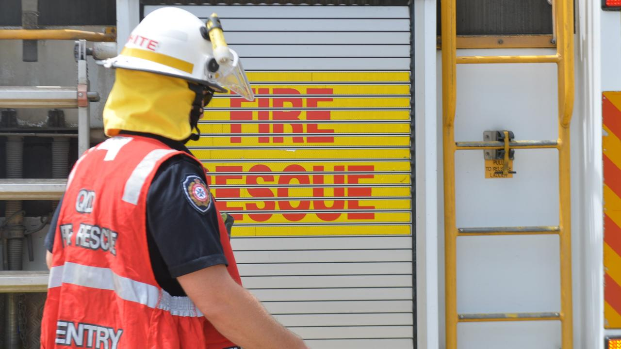 Queensland Fire and Emergency Services were called to a shed fire in Woombye.