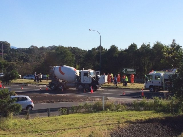Emergency services were called to a crash on the Bruxner Highway at Alstonville.