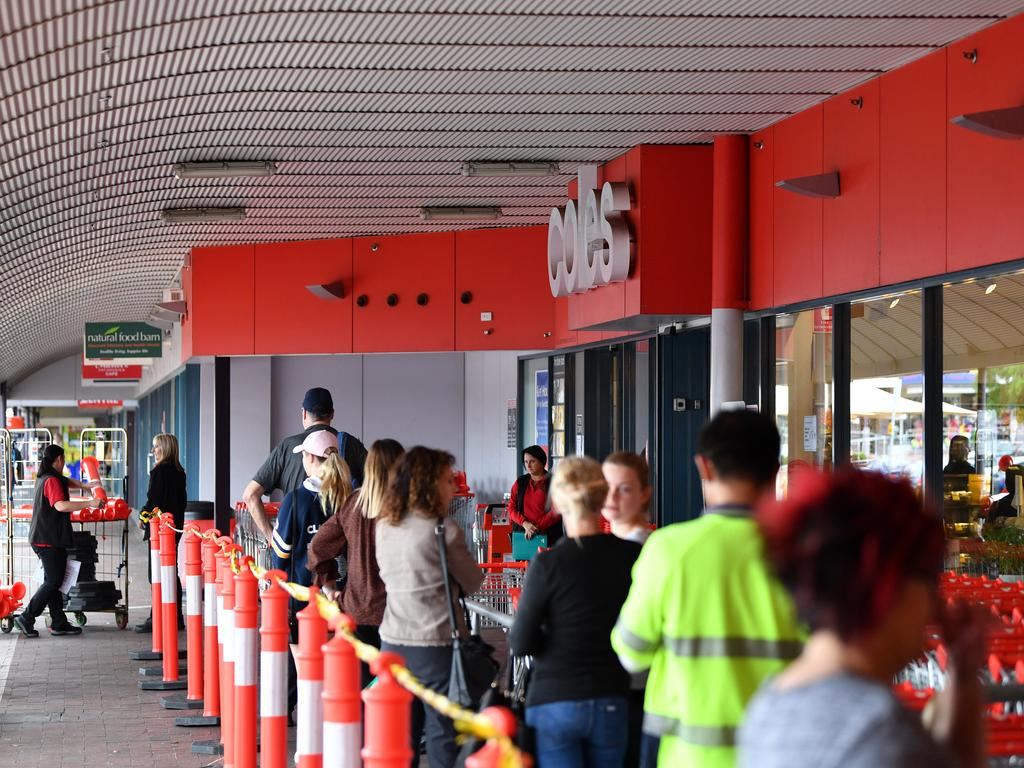 Coles has thanked customers for their patience. Picture: AAP
