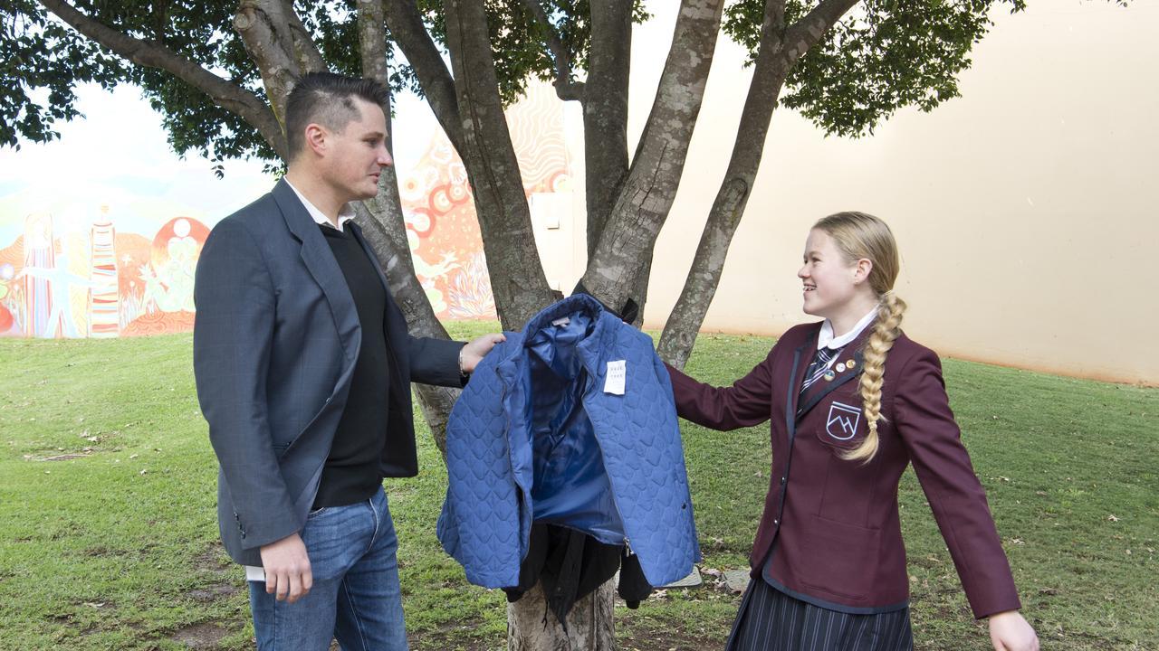 Environment and Community portfolio leader Cr Tim McMahon and Free on a Tree Toowoomba Co-ordinator Ashlee Geoghegan. Monday, 25th May, 2020.
