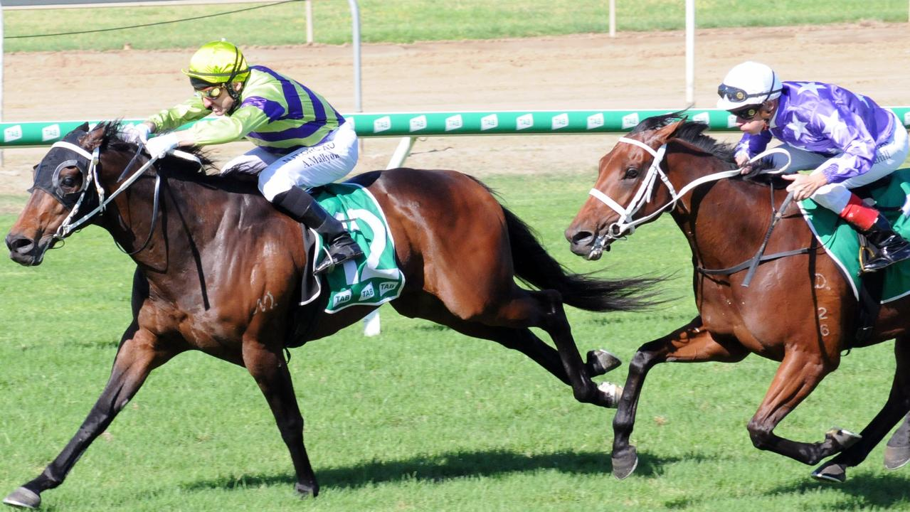 Ipswich winner And Finally, ridden by Andrew Mallyon and trained by Bruce Hill. Picture: Claire Power
