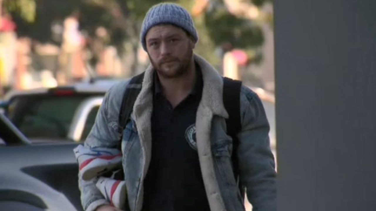 Jack Steven arrives at Geelong training. Picture: Twitter