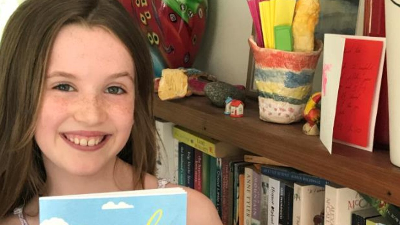 2019 Kids News Short Story competition winner (under 10s) Rose Pullinger with her published book.