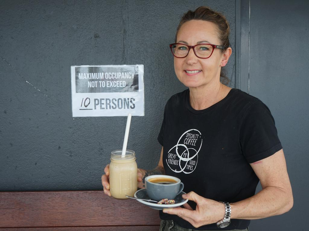 Woodman's Axe Espresso owner Merryn Ward is thrilled to be able to offer a dine-in service now that coronavirus restrictions have eased.