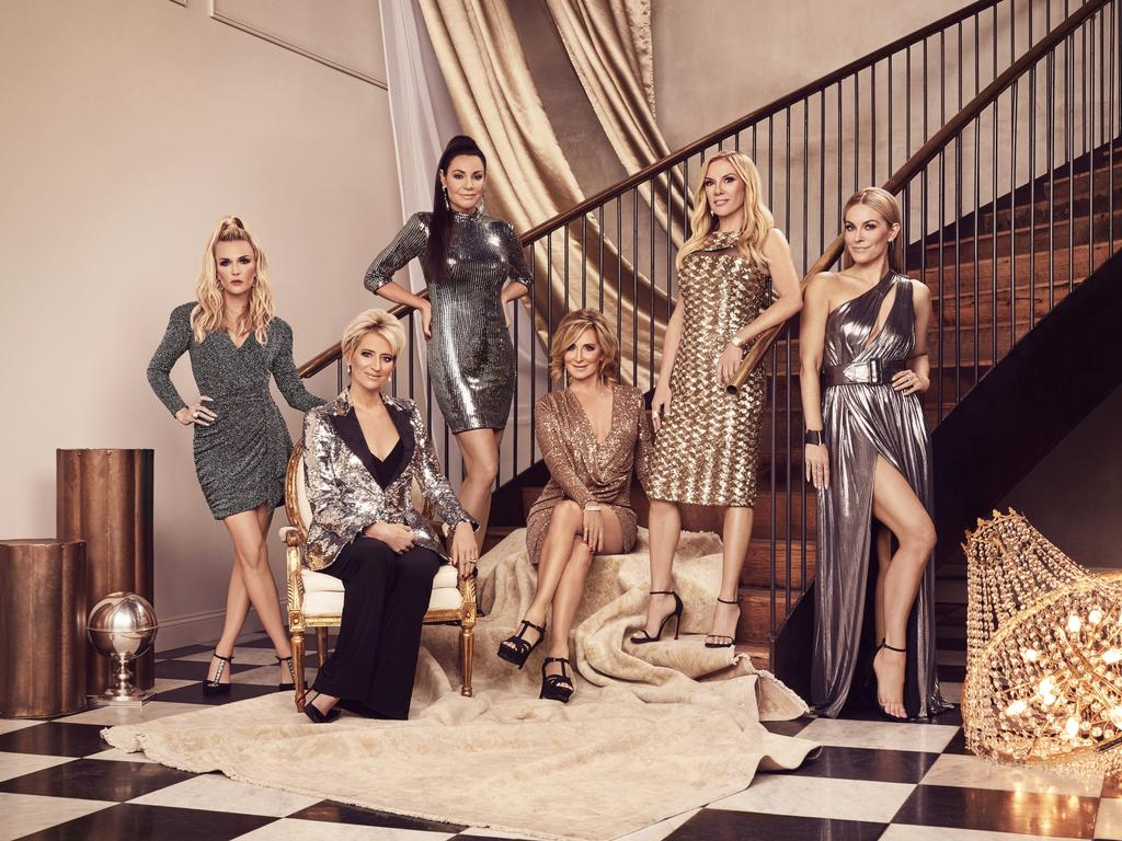Tinsley Mortimer, Dorinda Medley, Luann de Lesseps, Sonja Morgan, Ramona Singer and Leah McSweeney The Real Housewives of New York City.