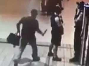 Knifeman plunges 30cm blade into cop's back