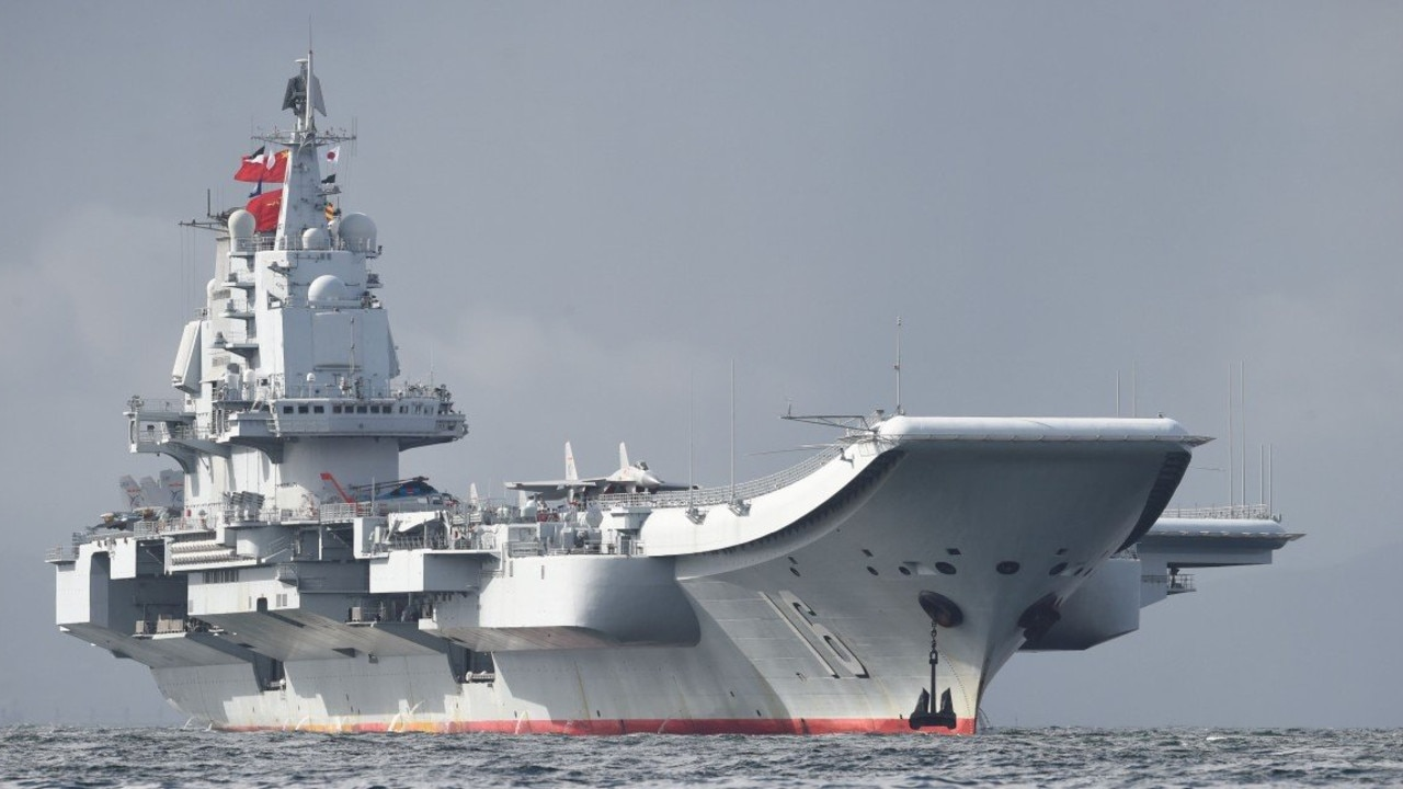 China's imposing Liaoning aircraft carrier has just been deployed in the South China Sea. Picture: Supplied