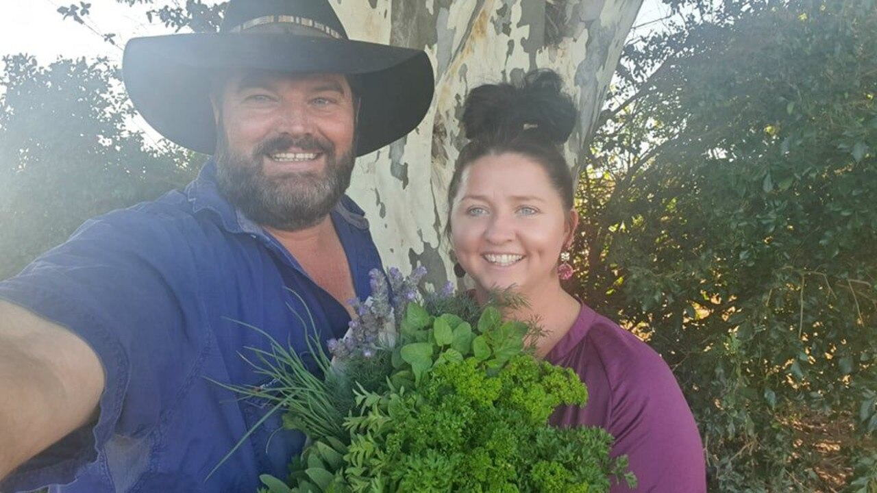 HERBAL HEAVEN: Chris and Amanda Giles are now offering big herbal bouquets of freshly cut herbs.