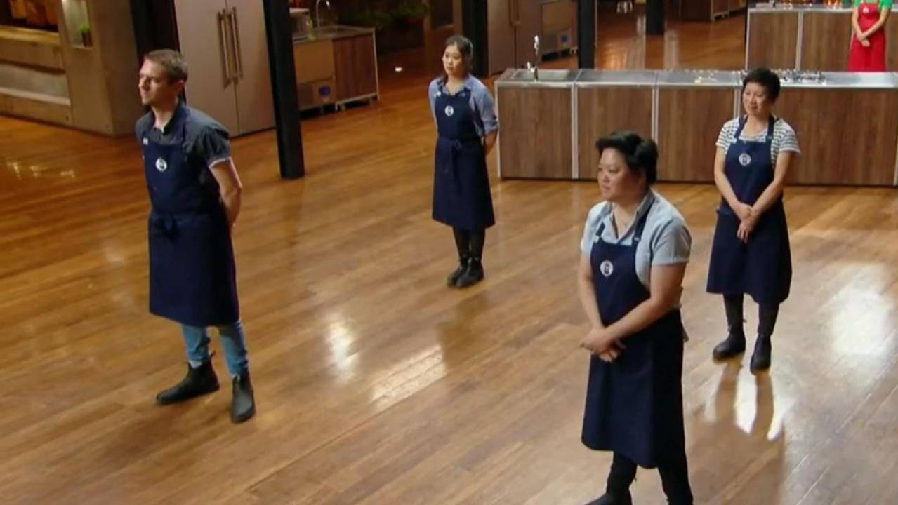 MasterChef stars adapting to coronavirus social distancing. Picture: Channel 10.