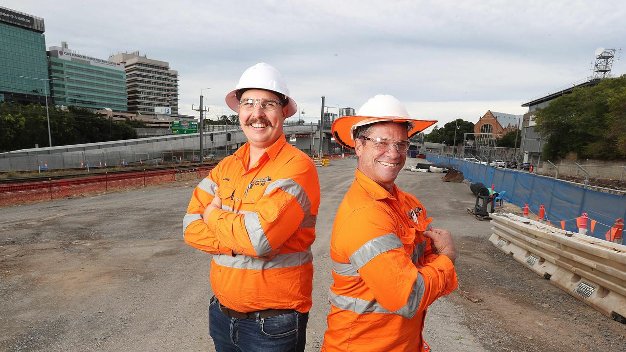 Plant operators Luke Garton and Jason Nattress. Picture: Annette Dew