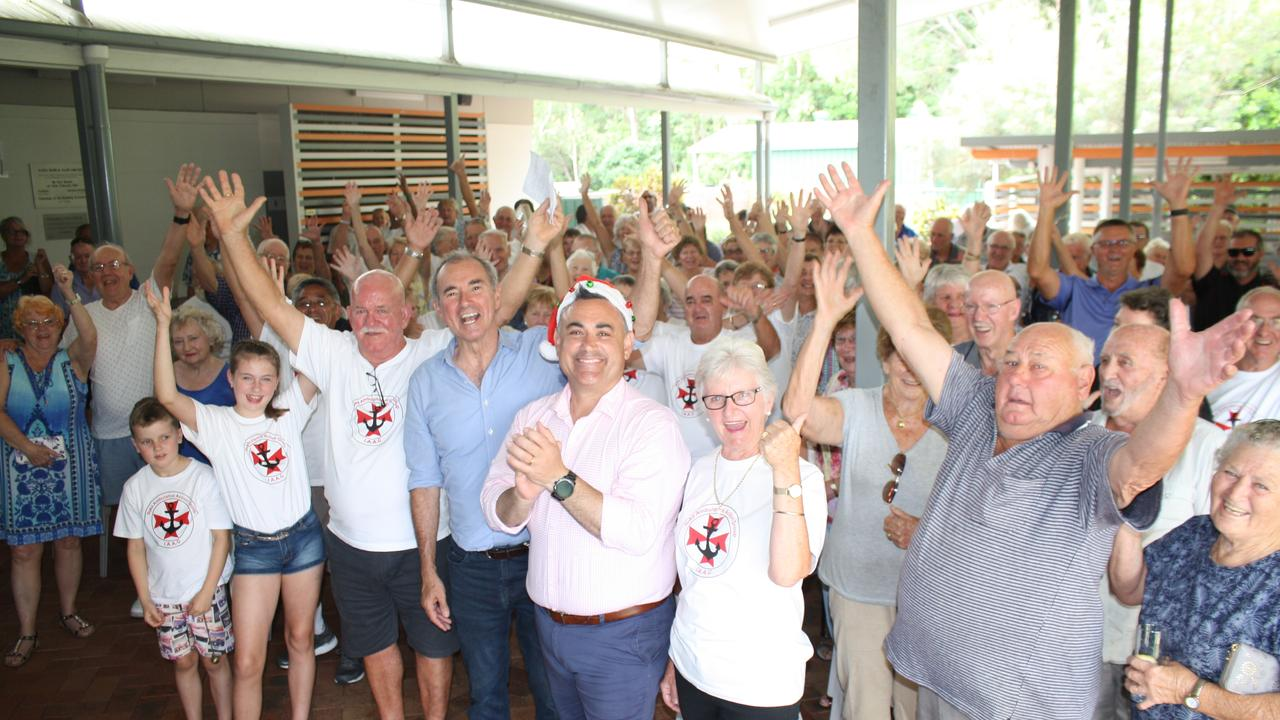 Members of the Iluka community and Clarence MP Chris Gulaptis celebrate the announcement that Iluka will get its first Ambulance Station when Deputy Premier John Barilaro visited Iluka back in December 2018.