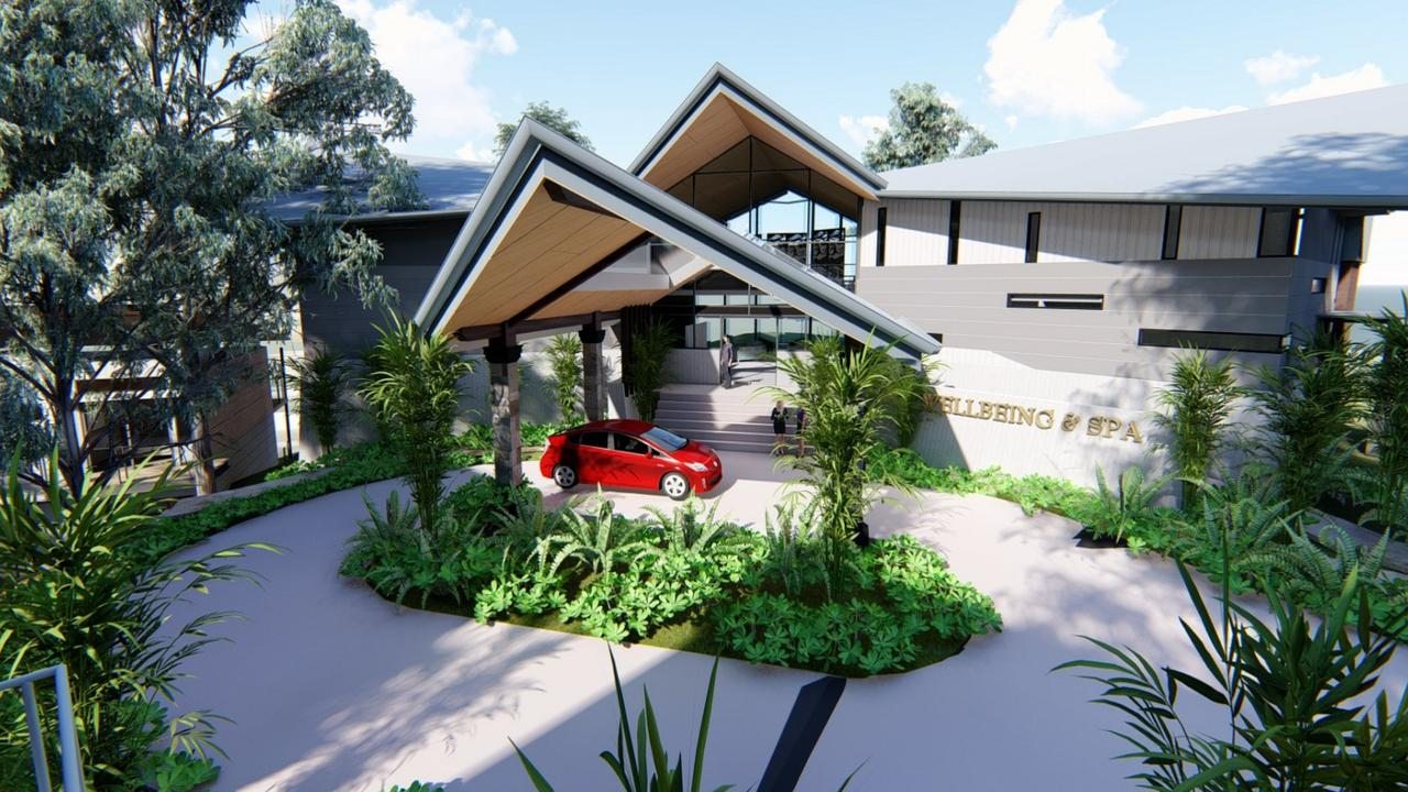 Developer New Land Cairns has unveiled plans to build the massive Yorkeys Knob Wellness Centre with 64 short-term accommodation units, two restaurants and multiple spas combining Chinese healing culture with the international
