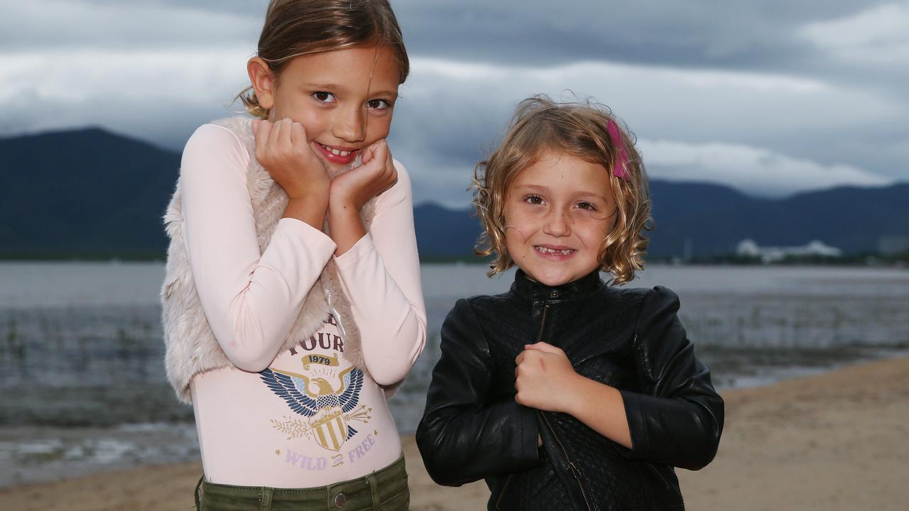 Far North residents felt the cold snap today. India Scowcroft, 7, and Stella Scowcroft, 9. PICTURE: BRENDAN RADKE