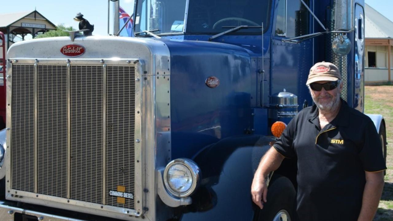 Mal with his 44-year-old Peterbilt 359.