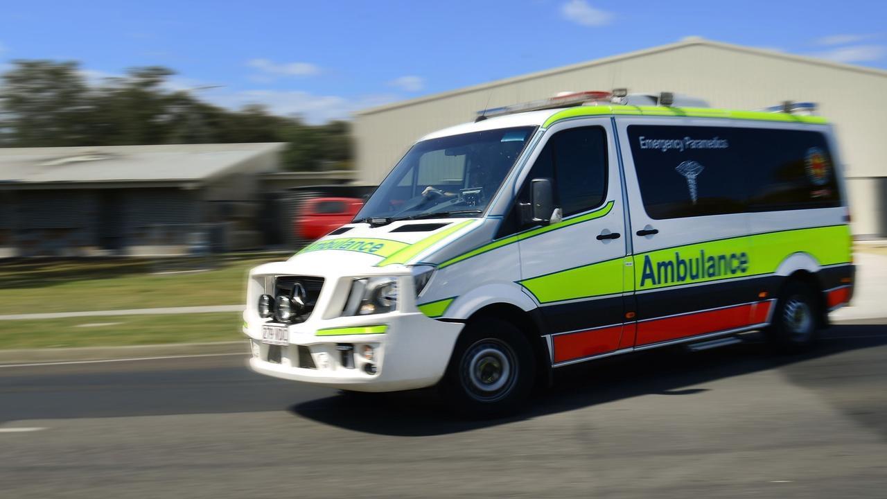 NEBO CRASH: One woman taken to hospital.