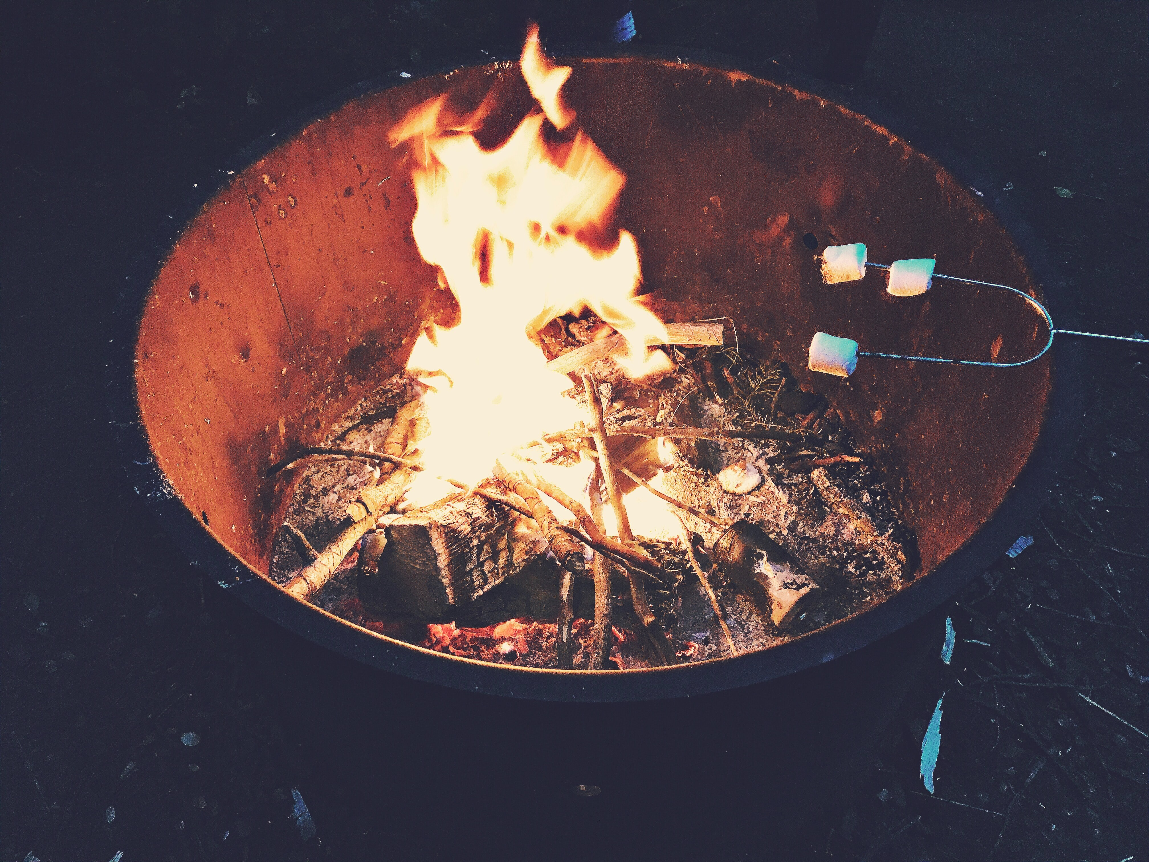 Roast marshmallows on an open flame in your own backyard, the safe way!