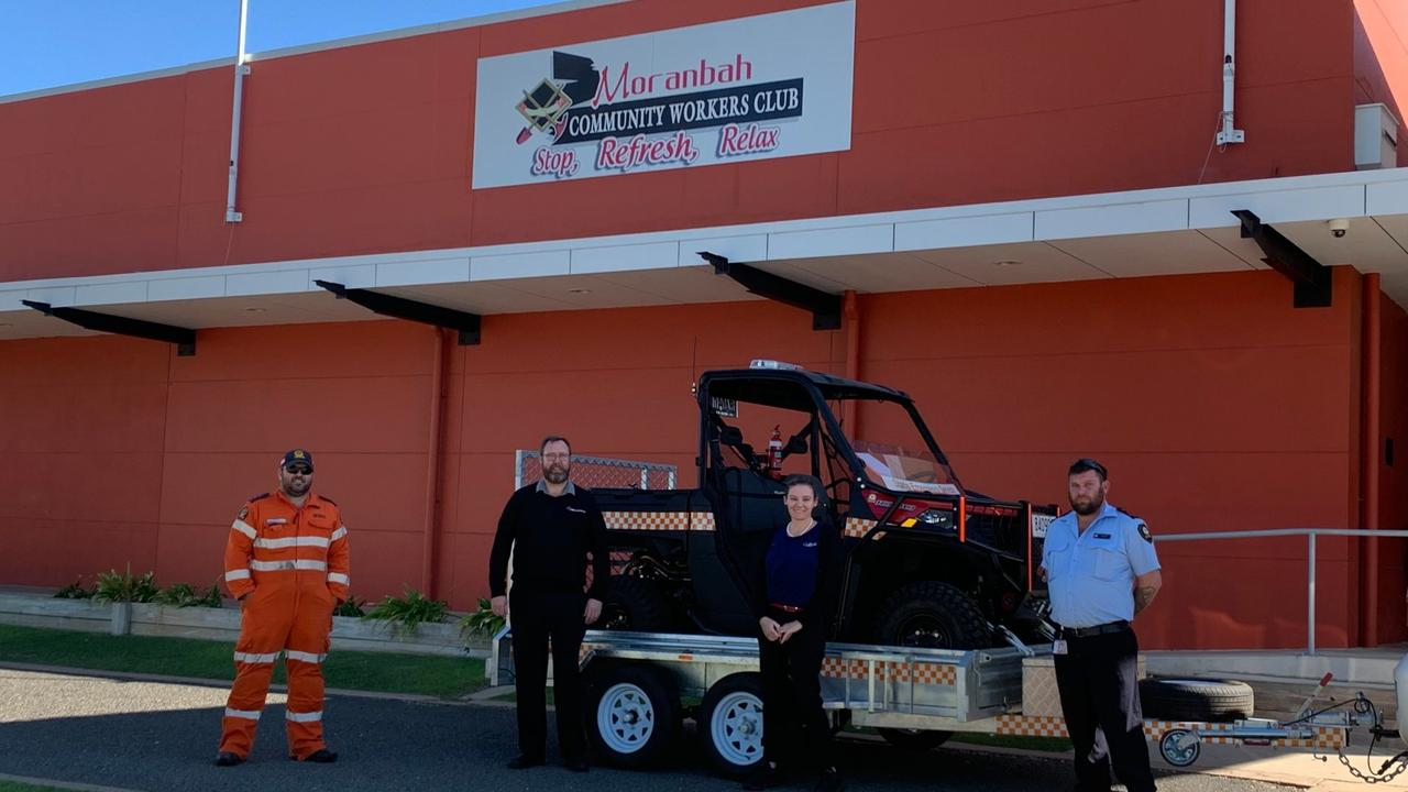 GIFT The SES Moranbah branch's new vehicle will help with land searches.