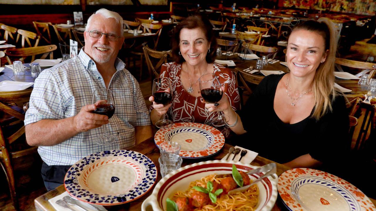Cosimo, Rosa and Kathy Criniti. Picture: Angelo Velardo/AAP
