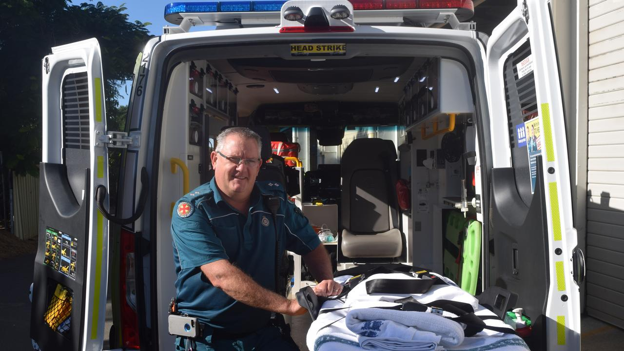 TO RISKY: Terry Zillmann, officer in charge at the Biloela Ambulance Station, said distractions are becoming an increasing cause of accidents.