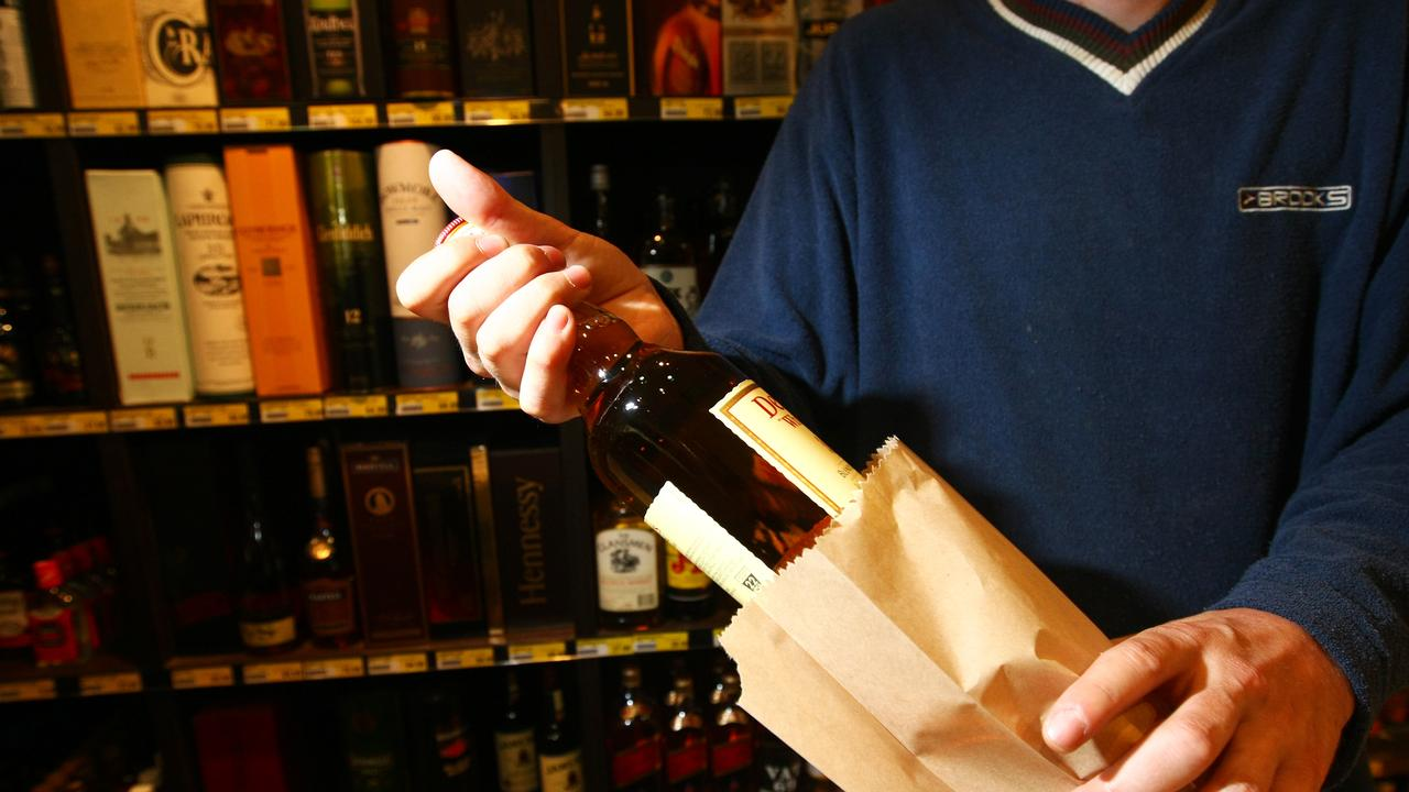 "A man on trial for allegedly stealing a bottle of liquor called a store employee ""racist"" and said he wasn't stealing after she approached him."