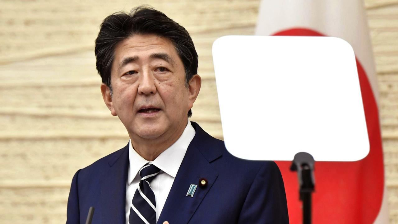 Shinzo Abe said citizens would have to adapt to a 'new normal'.