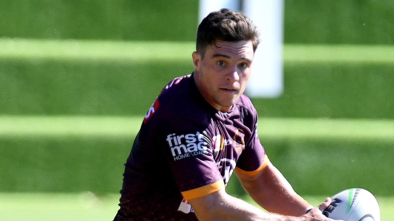 BRISBANE, AUSTRALIA - MAY 26: Brodie Croft in action during a Brisbane Broncos NRL training session at the Clive Berghofer Centre on May 26, 2020 in Brisbane, Australia. (Photo by Bradley Kanaris/Getty Images)
