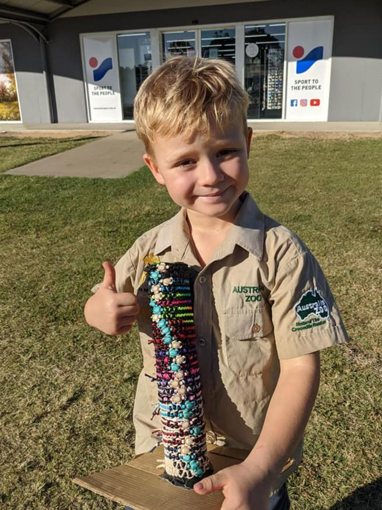 HELPING HAND: Yeppoon's Intersport is one of many local stores supporting Owen Harris' turtle bracelets.
