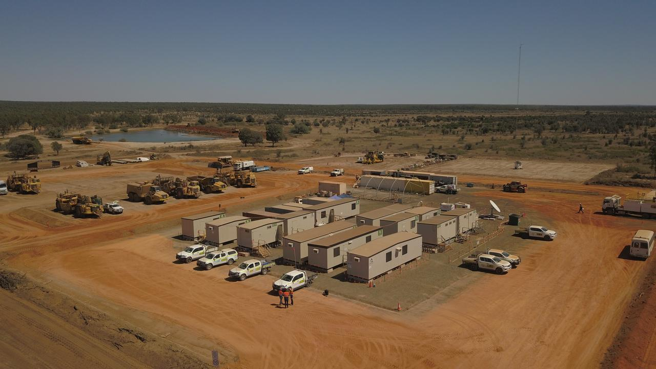 Progress on the Adani Carmichael Mine.