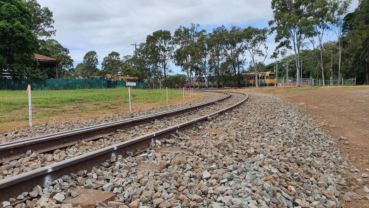 Rails heading towards the Downer facility, looking towards Kent St in Maryborough. Photo: Contributed